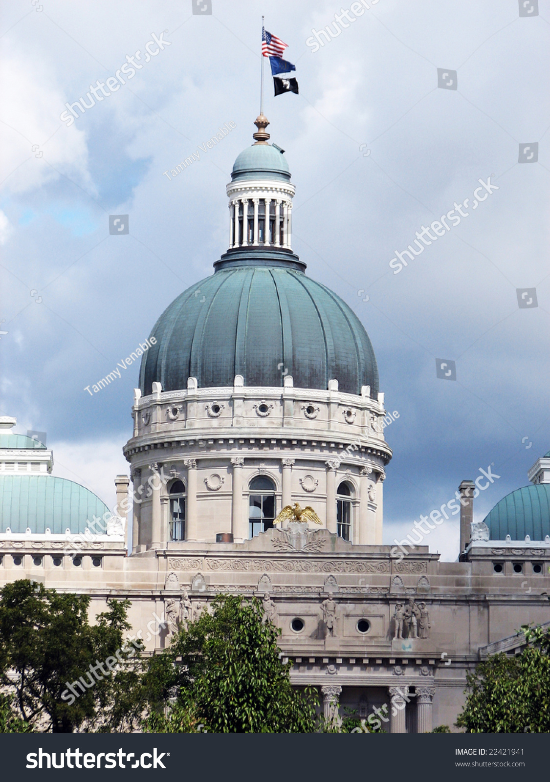 Government Building Dome Style Roof Indianapolis Stock