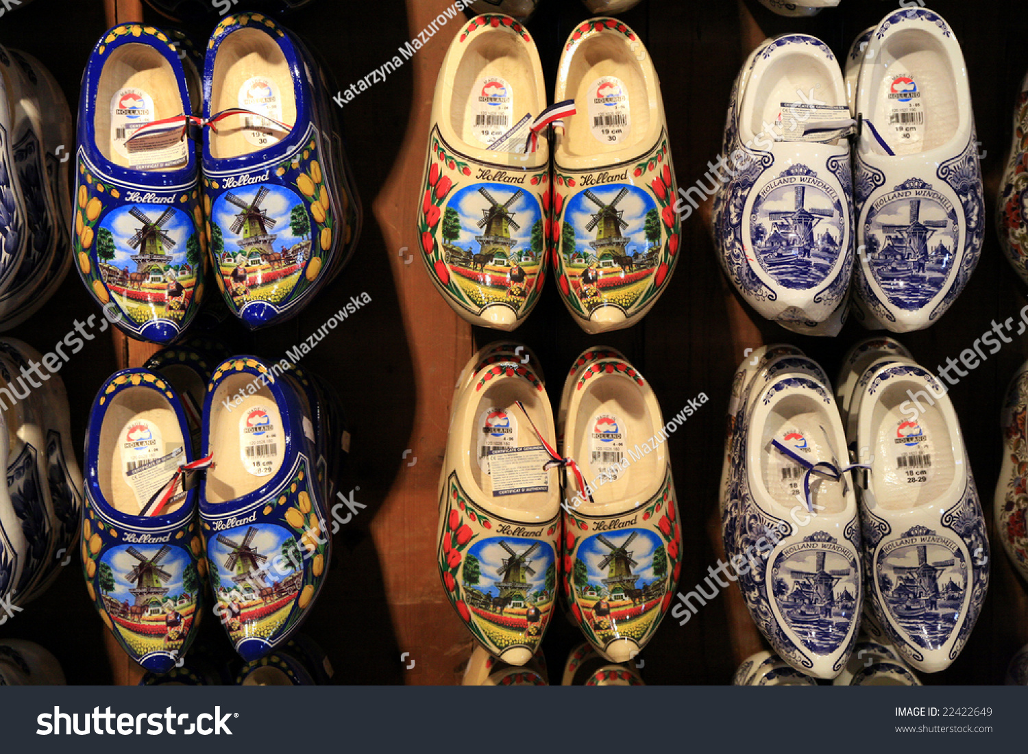 dutch traditional wooden shoes clogs symbol stock photo 22422649