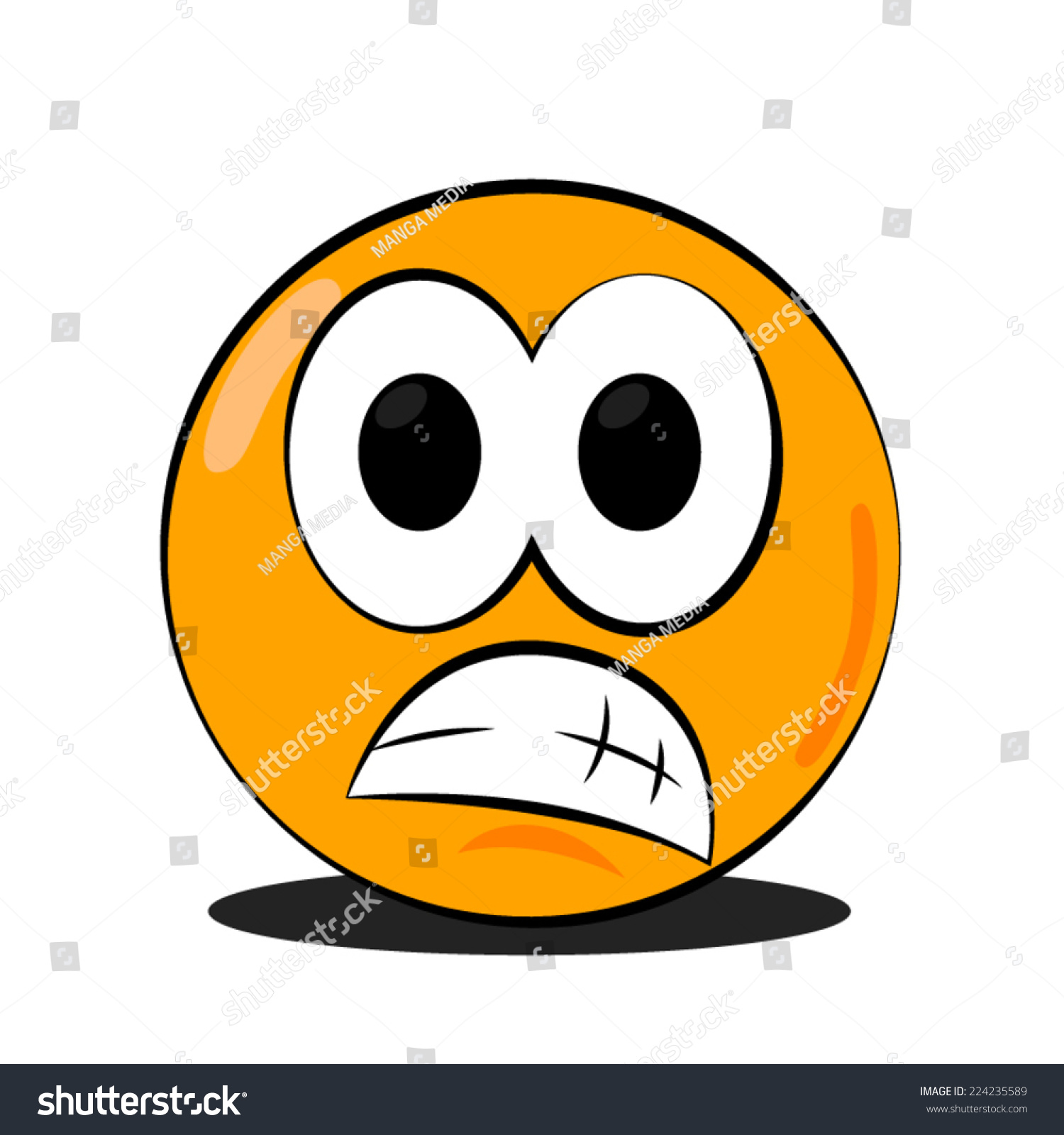 Worried Face Emoticon ...