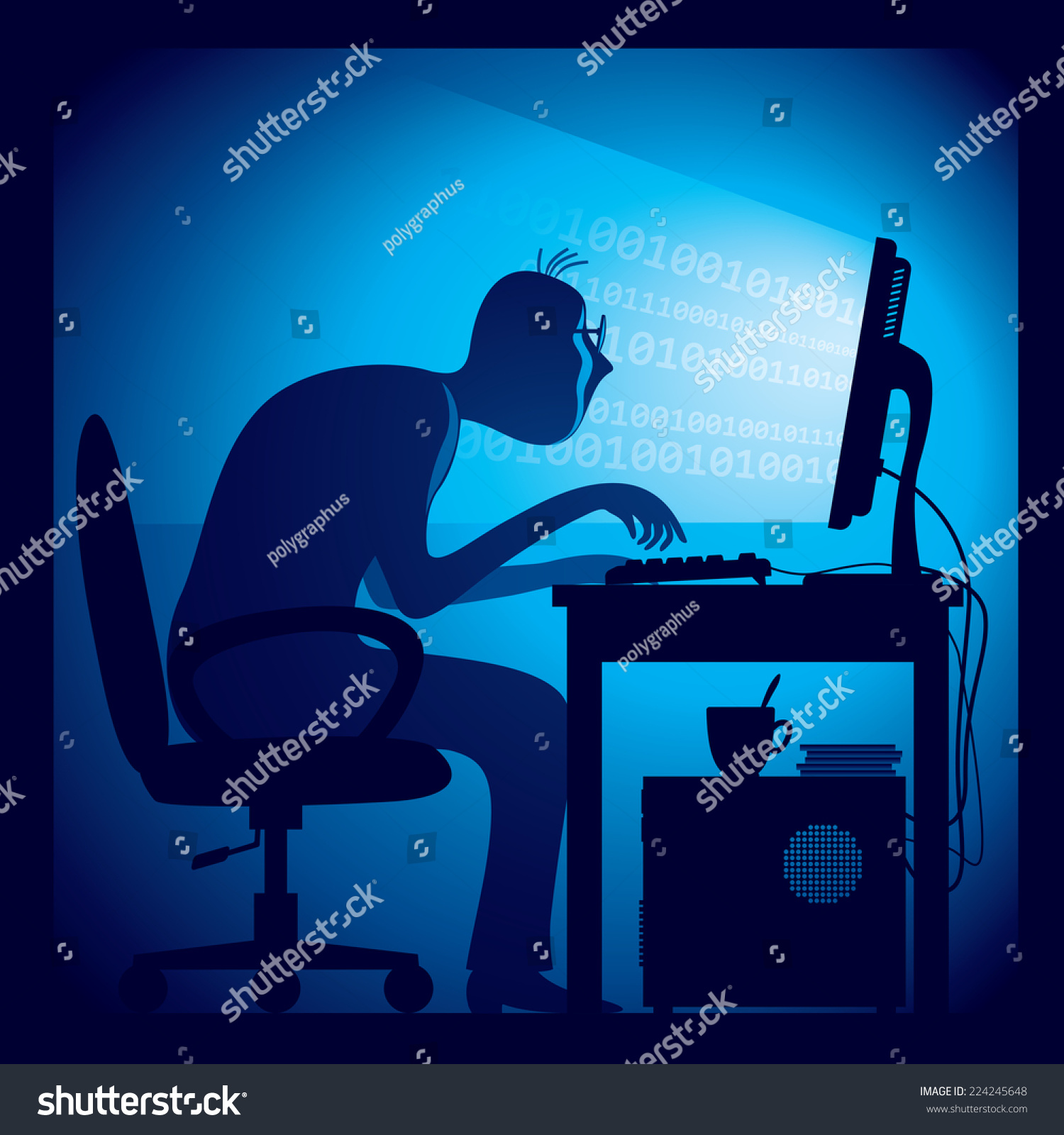 Stock Vector A Hacker