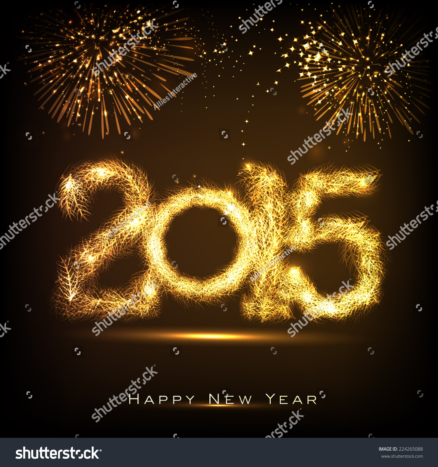 Happy New Year 2015 Celebrations Greeting Stock Vector Royalty Free