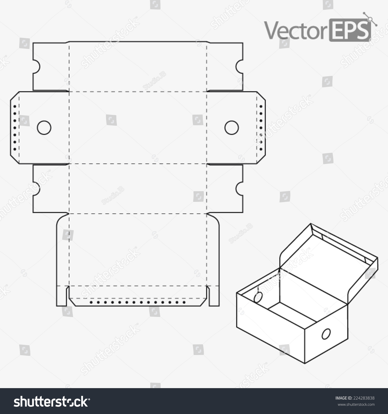 Business Card Box Template Vector Packaging Cut Templates