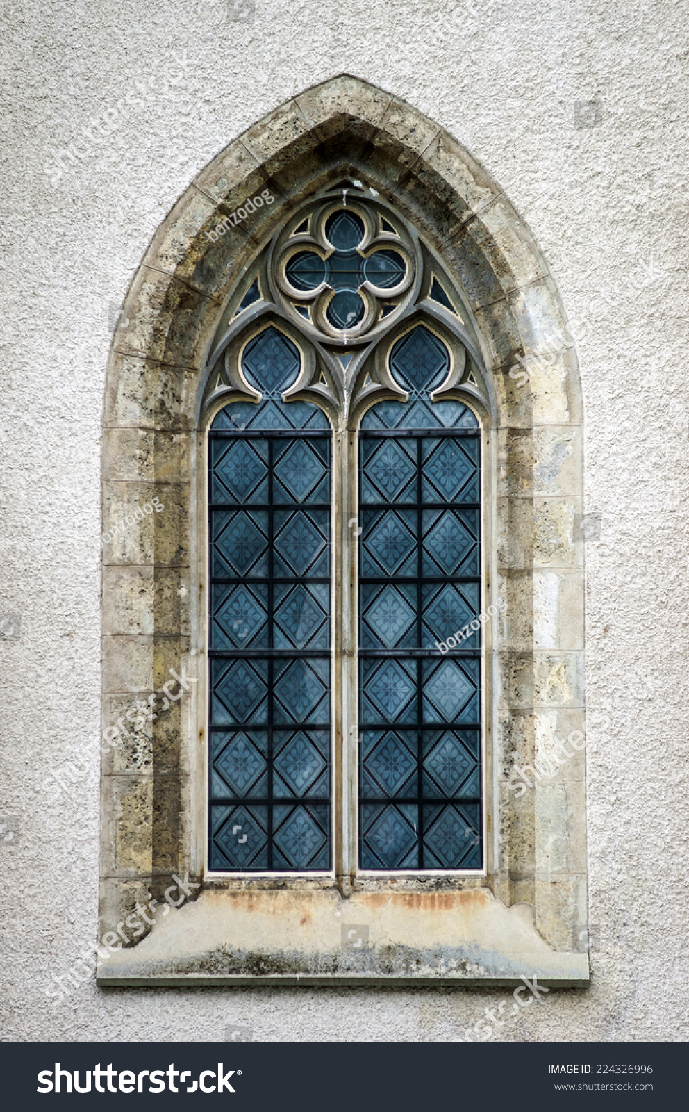 Beautiful Medieval Church Window Ideal Form Stock Photo 224326996 ...