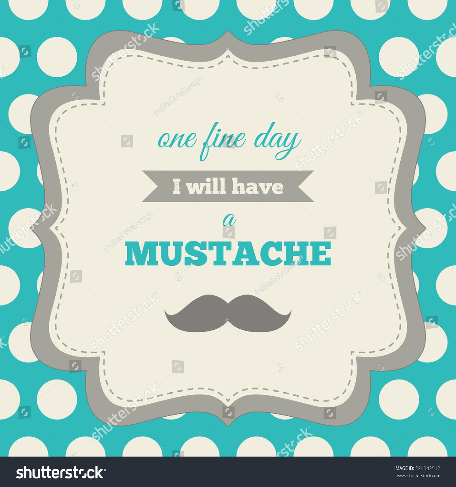 Baby Shower Birthday Invitation Mustache Party Stock Vector (Royalty ...