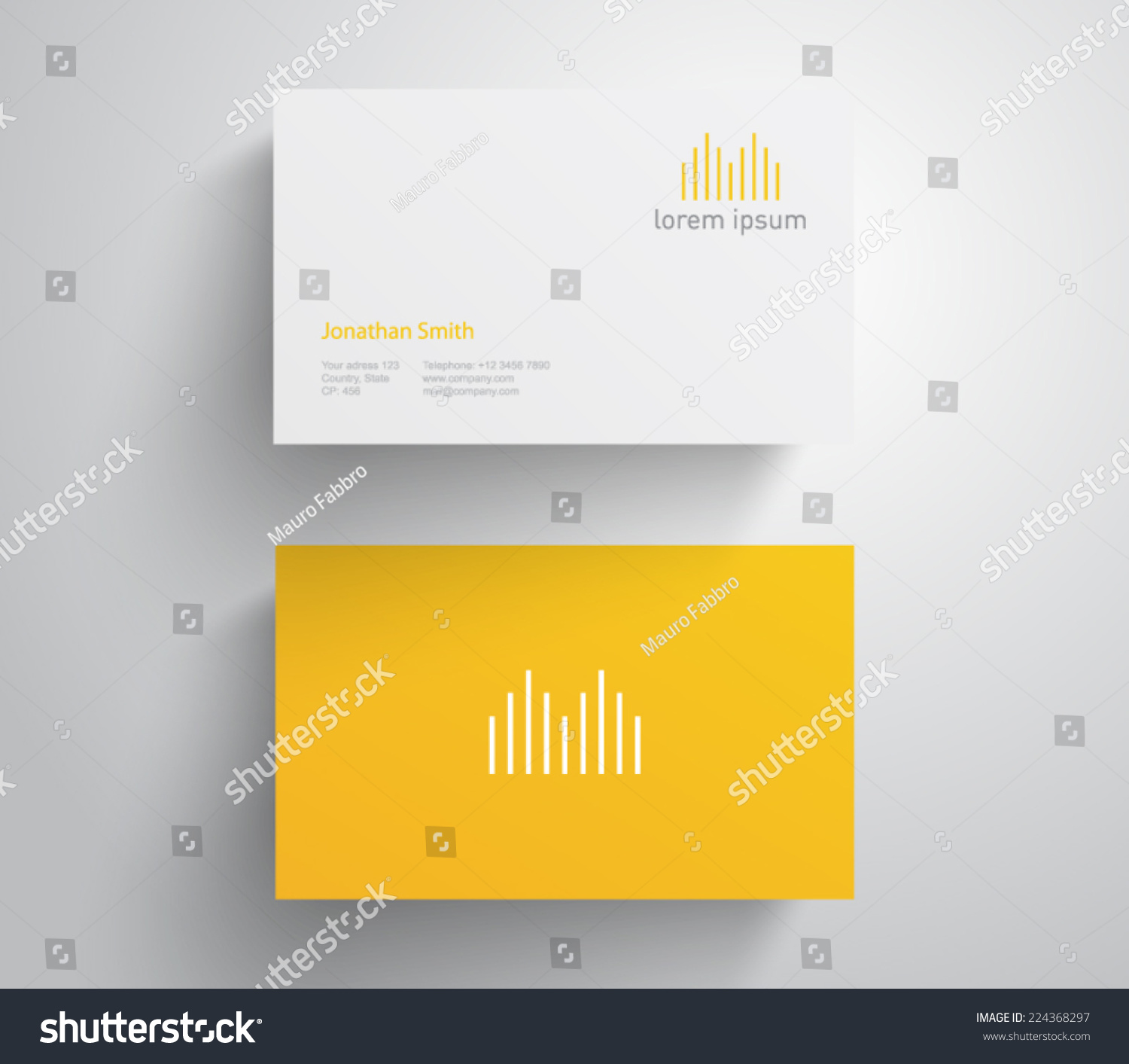 Business Card Logo Soundwave Equalizer Music Stock Vector