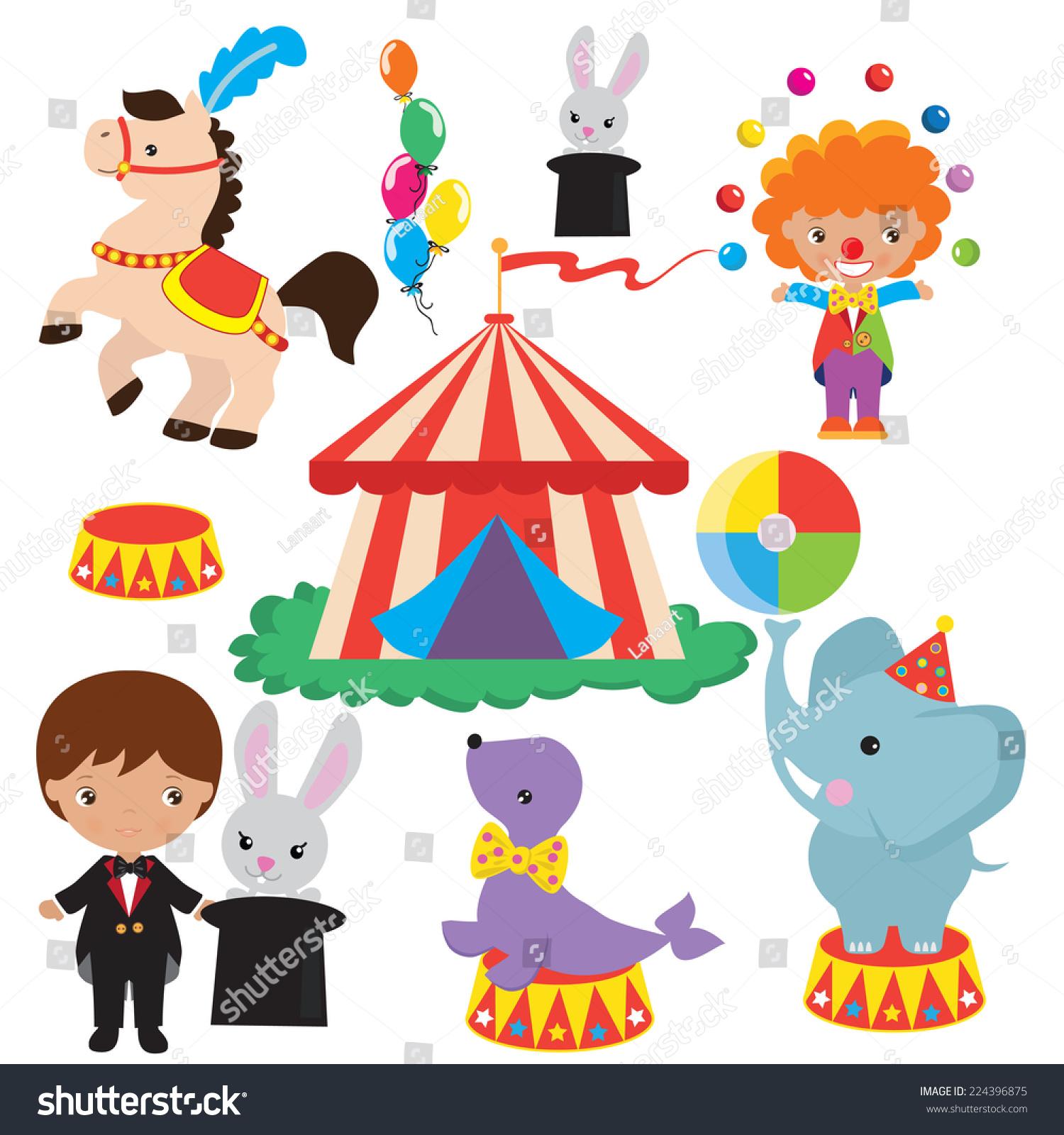 Royalty-free Circus vector illustration #224396875 Stock Photo ...