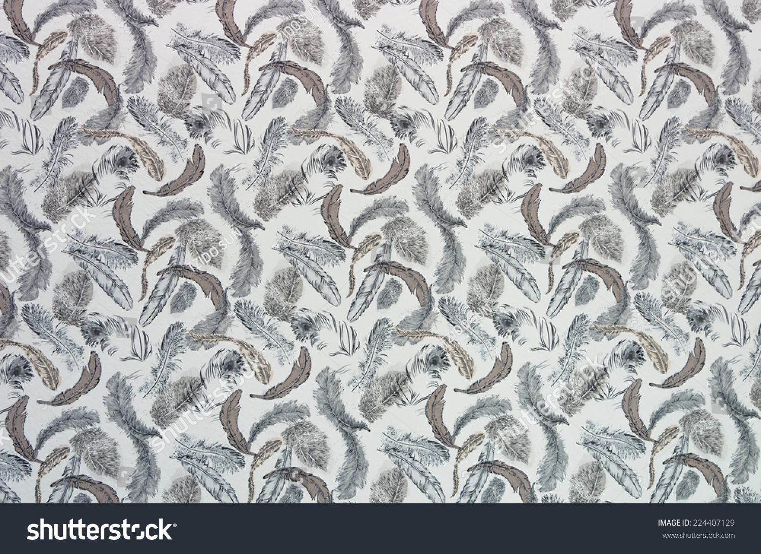 Seamless Feathers Pattern Wallpaper And Background