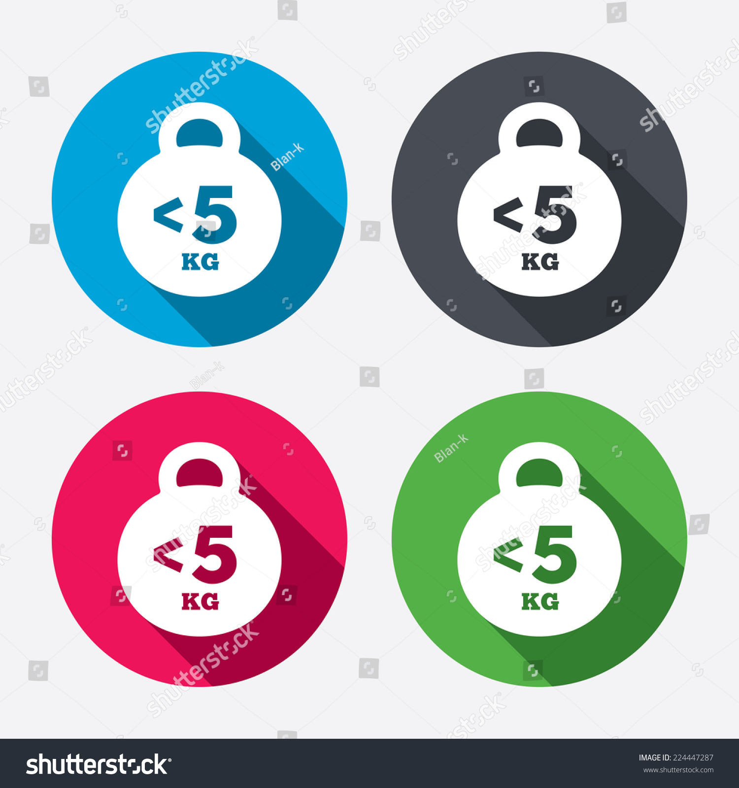 Weight Sign Icon Less Than 5 Stock Vector Royalty Free 224447287