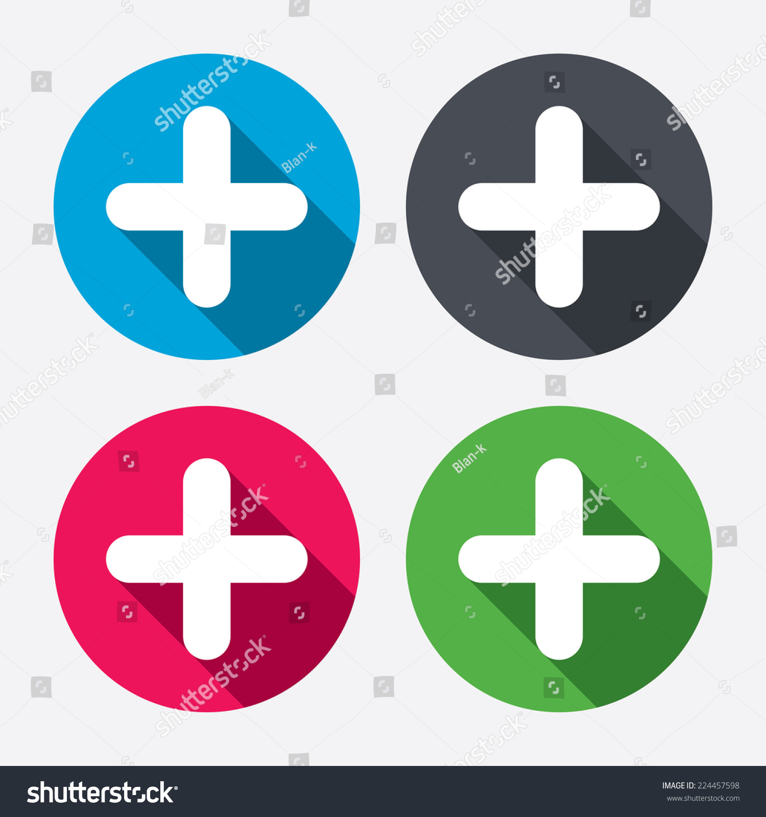 Plus Sign Icon Positive Symbol Zoom Stock Vector Royalty Free