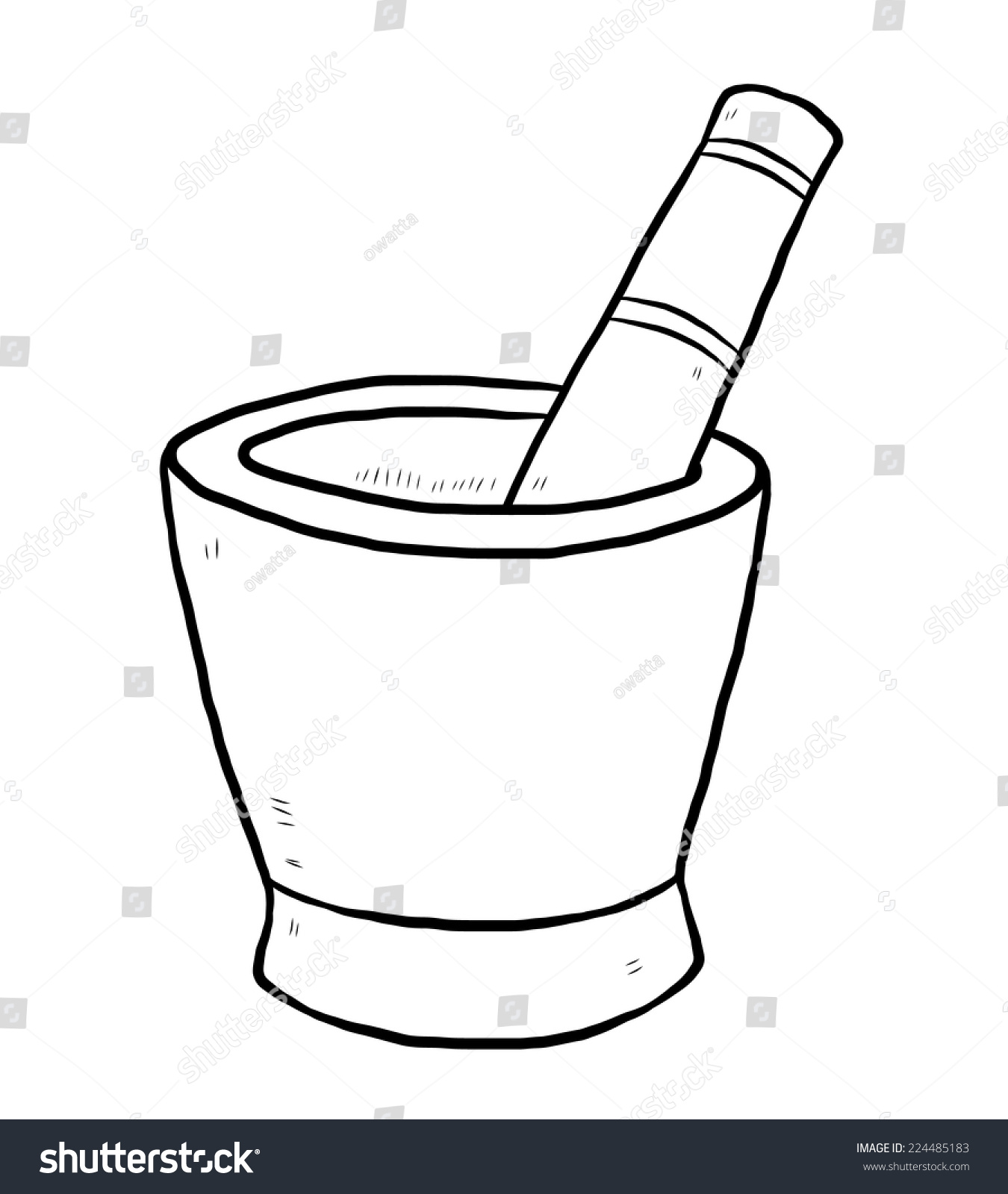 Royalty-free Mortar and pestle / cartoon vector and… #224485183 ... for Mortar And Pestle Drawing  111bof