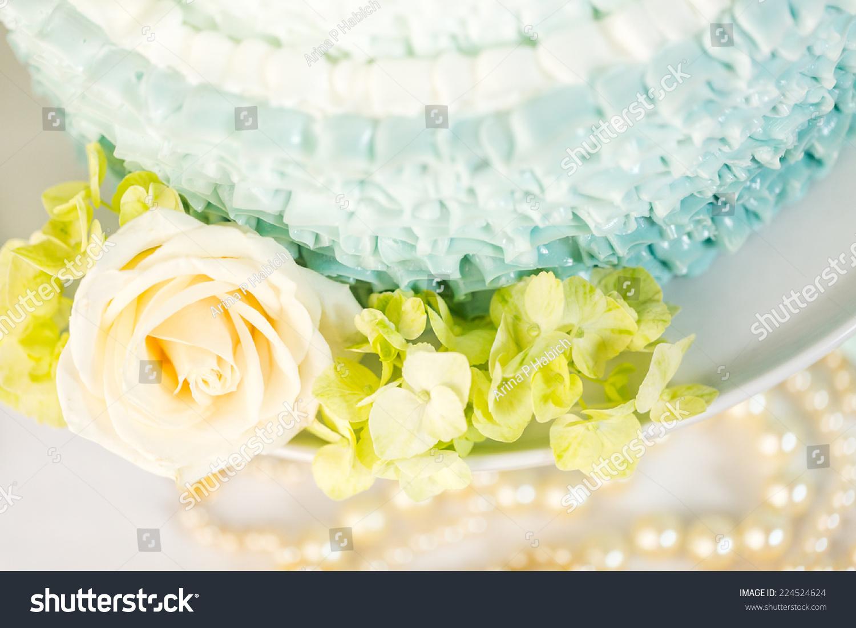 Gourmet Tiered Wedding Cake Centerpiece Wedding Stock Photo (Royalty ...