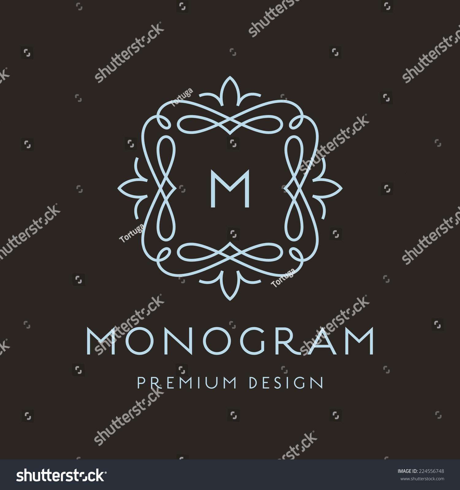 Simple Graceful Monogram Design Template Elegant Stock Photo (Photo ...