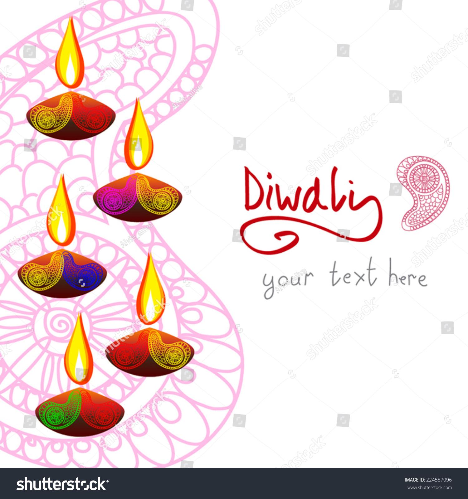 Beautiful vector diwali background diya oil stock vector royalty beautiful vector diwali background with diya oil lantern and paisley vertical page design m4hsunfo