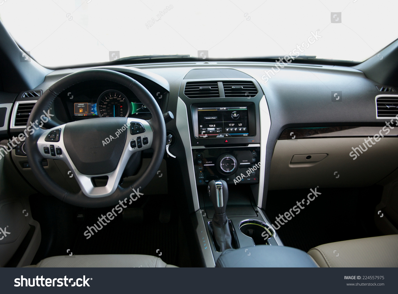 dashboard car interior stock photo 224557975 shutterstock. Black Bedroom Furniture Sets. Home Design Ideas
