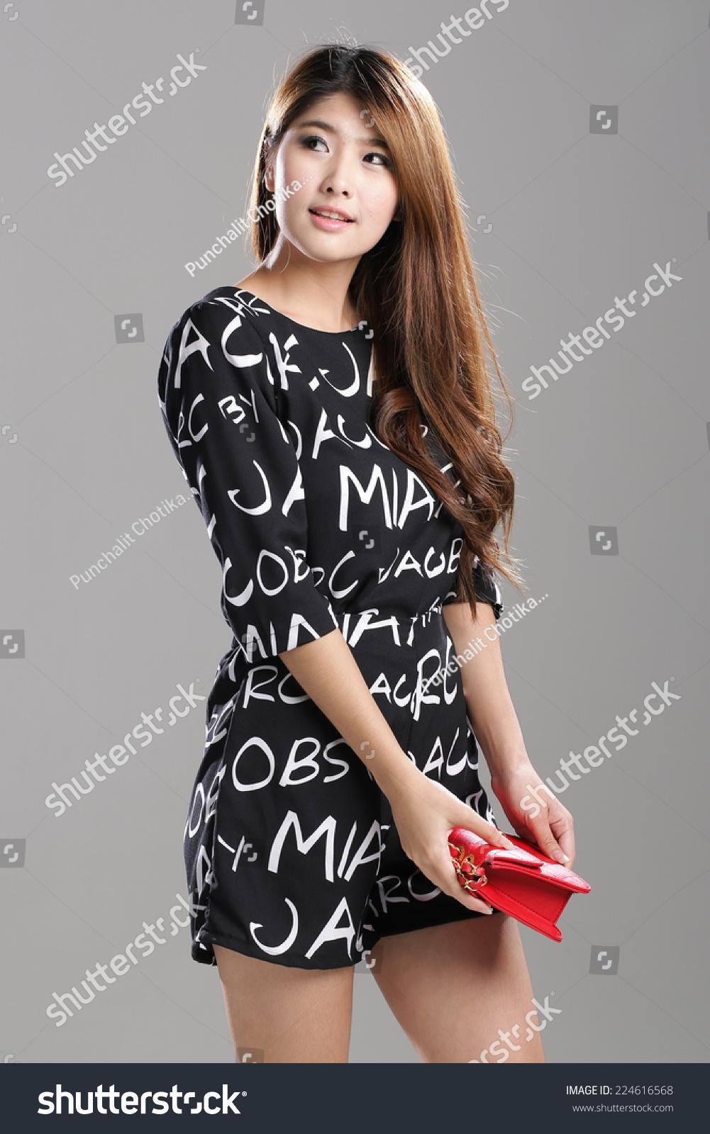 Alphabet images black and white dress