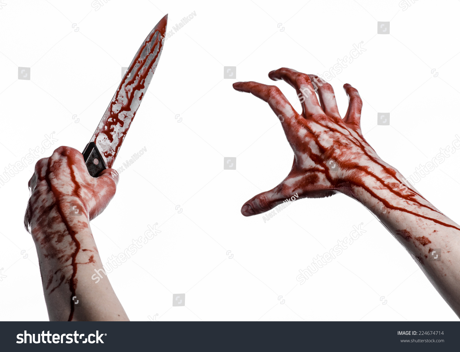 bloody hand holding - photo #2