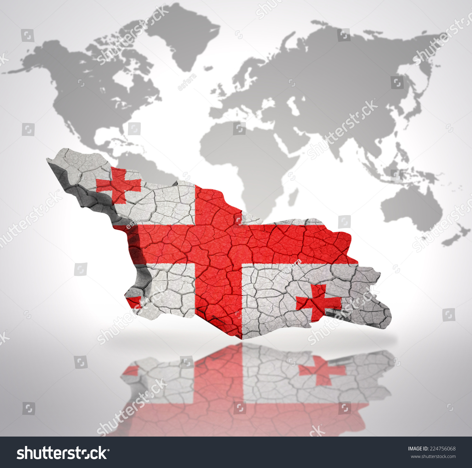 Map georgia georgian flag on world stock illustration 224756068 map georgia georgian flag on world stock illustration 224756068 shutterstock gumiabroncs Image collections