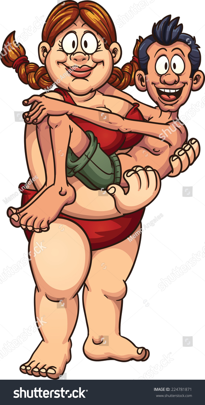 Chubby men skinny women