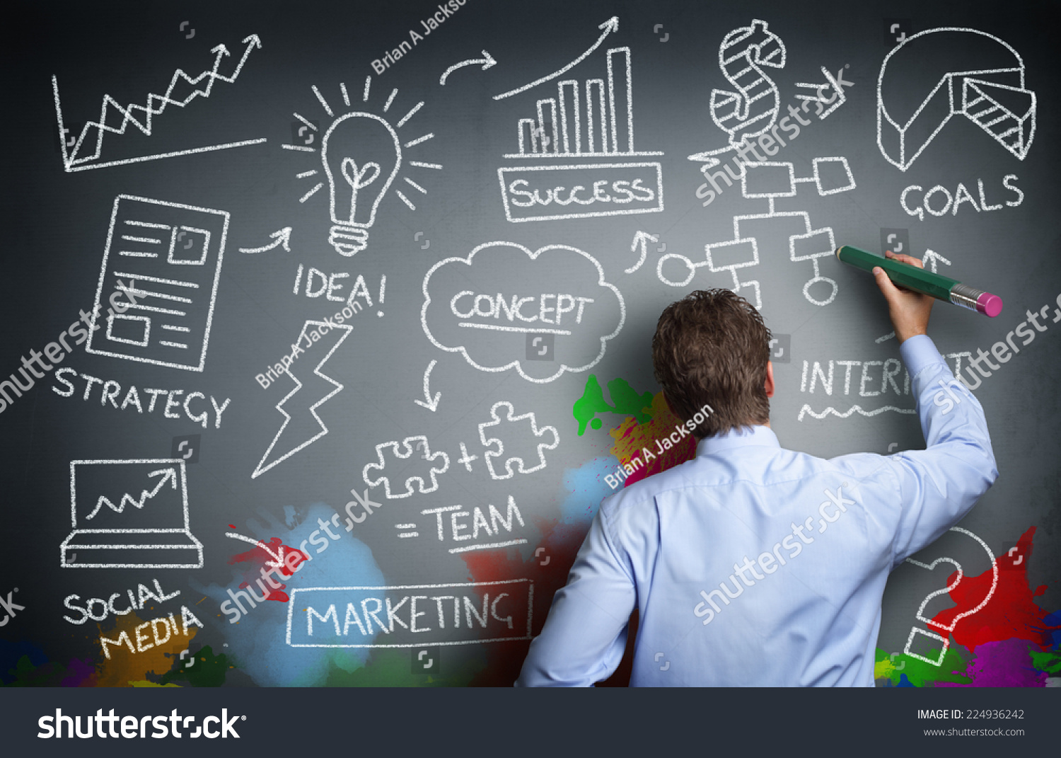 Royalty-free Businessman drawing business concept on… #224936242 ...
