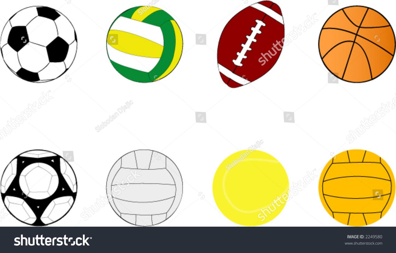 sport balls clipart stock vector 2249580 shutterstock rh shutterstock com sports balls clipart images sport balls clipart