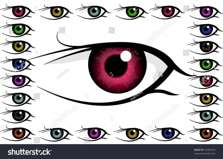 Big Eye Frame Eyes Stock Illustration 22497970 - Shutterstock