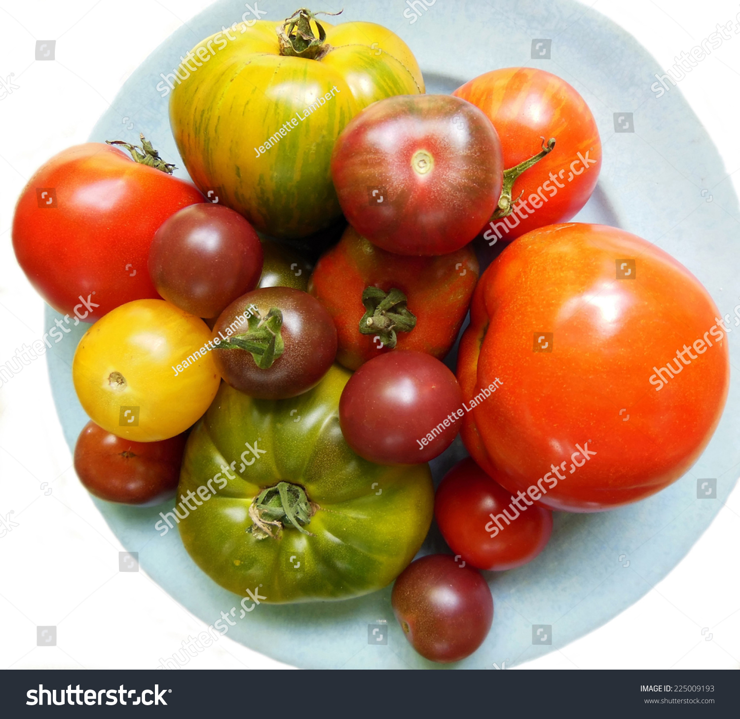 Garden Fresh Collection Heirloom Tomatoes Different Stock Photo