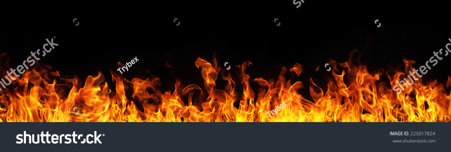 Fire flames on black background #225017824