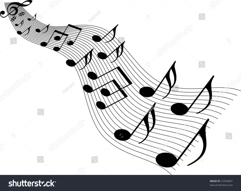 Nice Vector Music Background Stock Vector 22504087 - Shutterstock