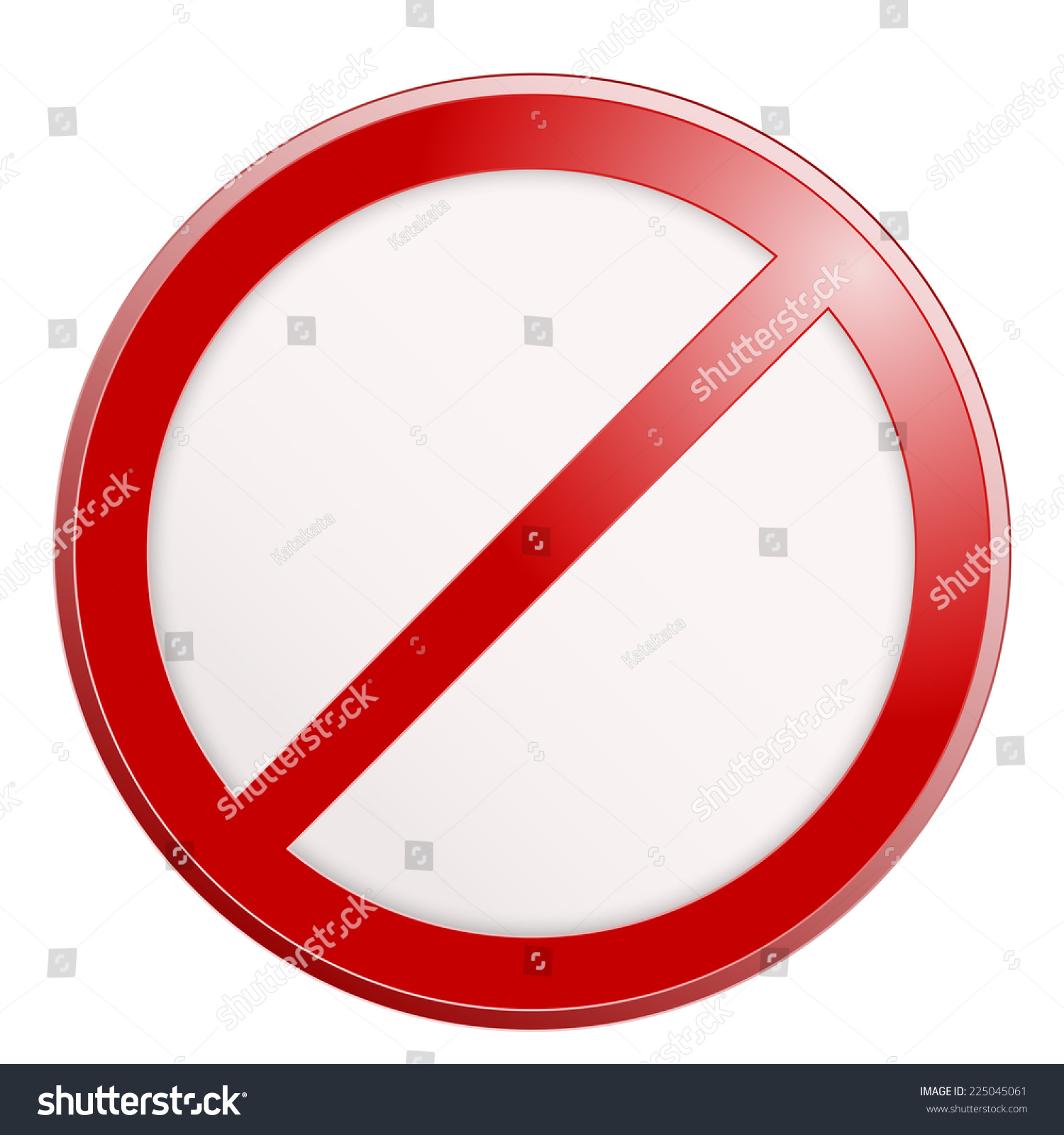 Stop sign no sign template vector stock vector 225045061 stop sign no sign template vector illustration pronofoot35fo Images