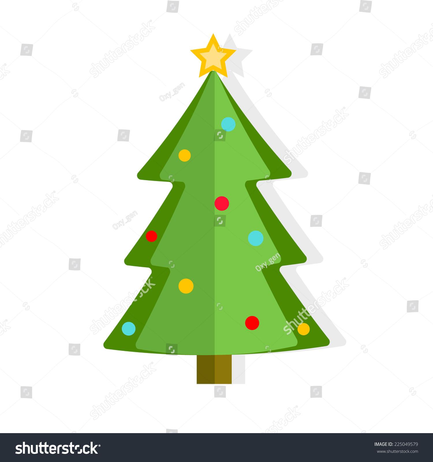 Christmas tree vector illustration stock