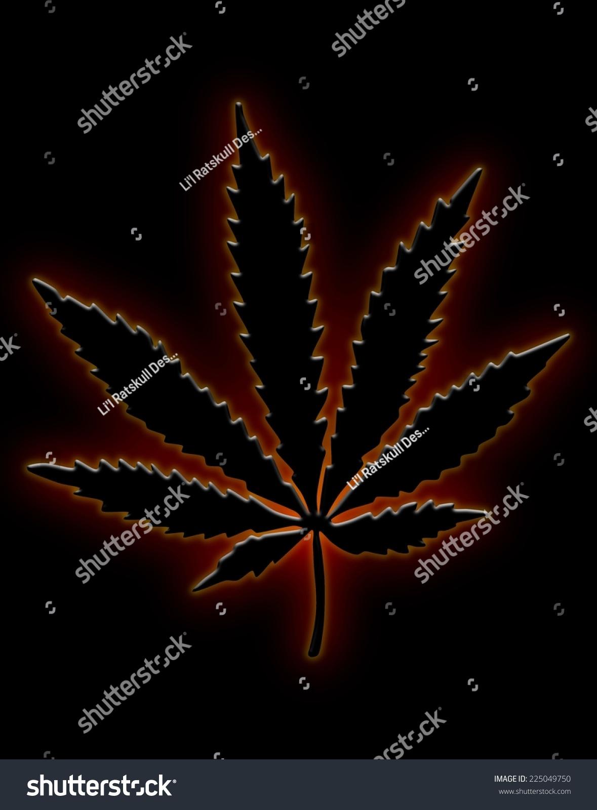Neon Marijuana Leaf Stock Illustration 225049750