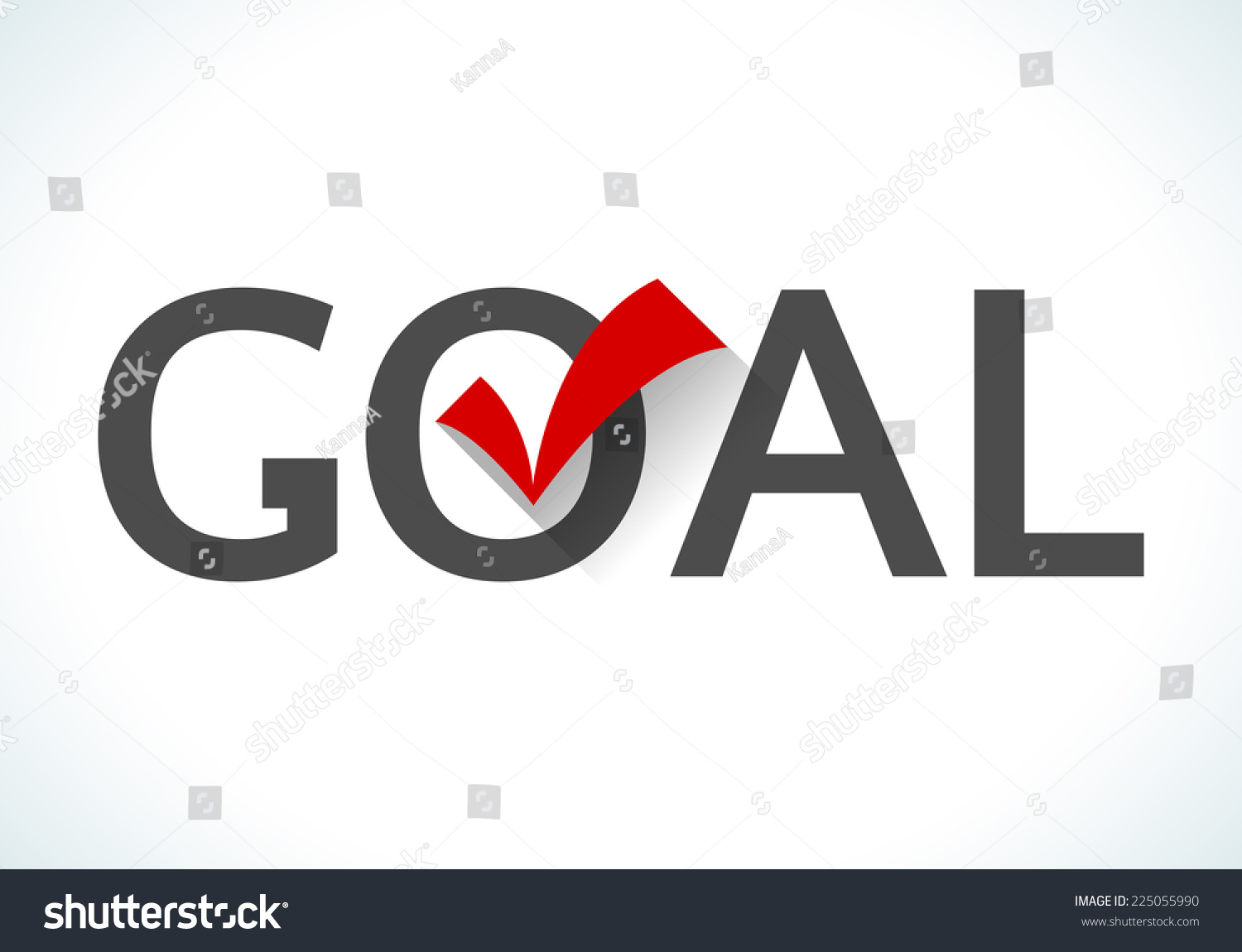 business goal concept goal icon red stock vector  business goal concept goal icon red check mark on white background design ideas