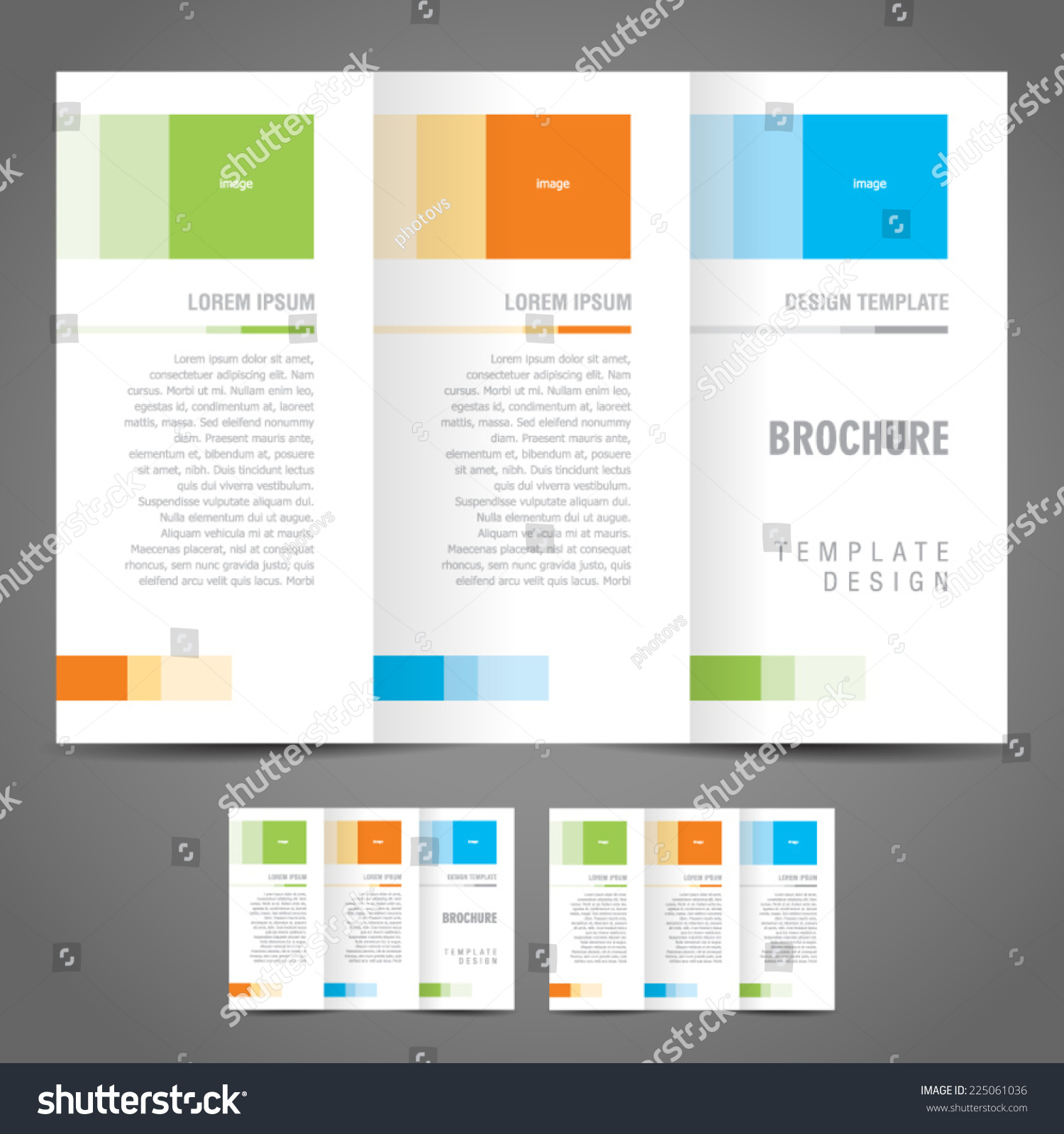 simple brochure design - simple brochure design template trifold stock vector