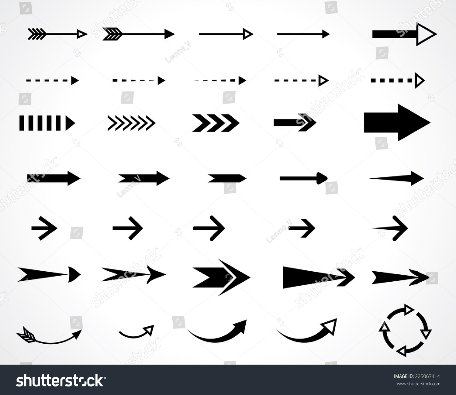 arrows. vector design elements set. eps8 #225067414