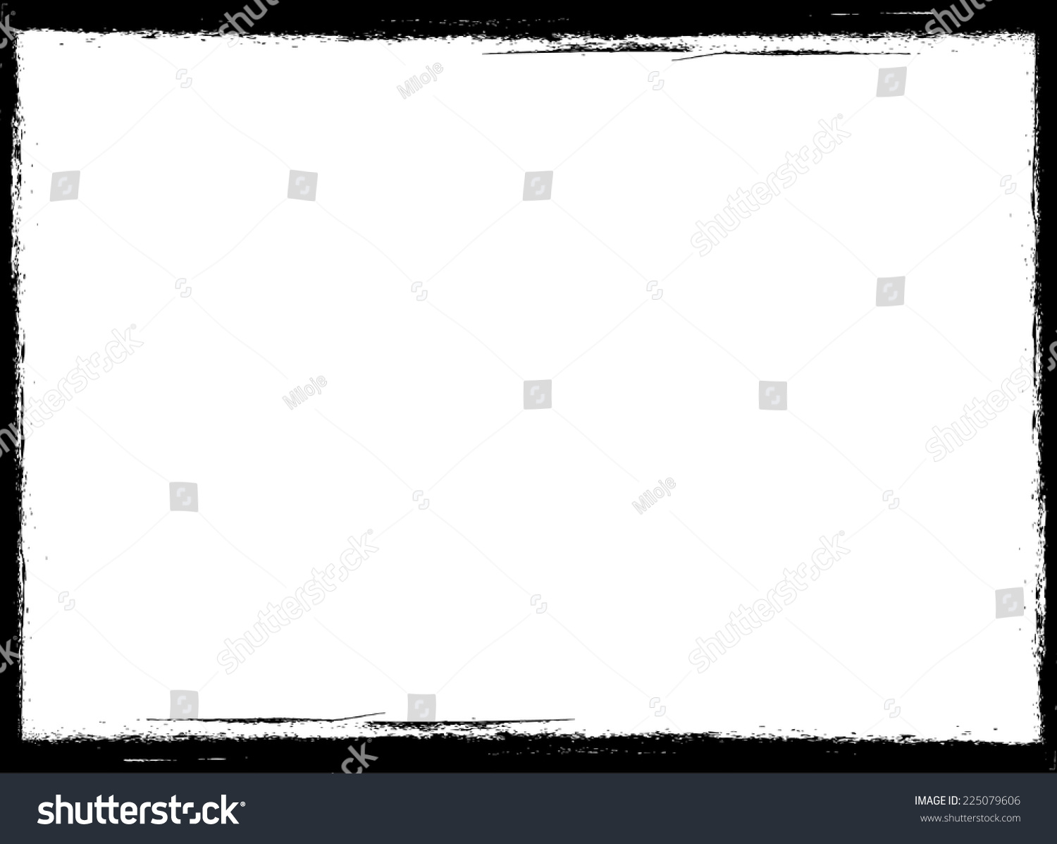 vector vintage grunge black and white distress border frame for your design