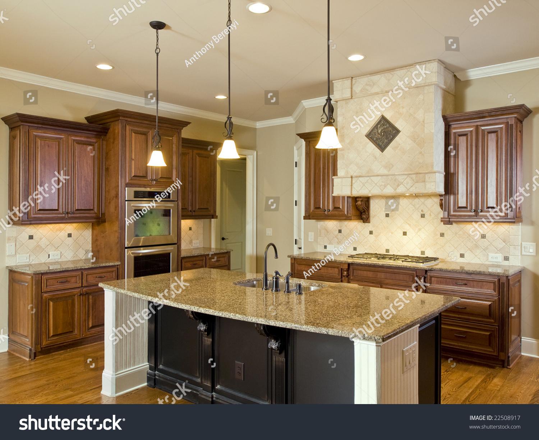 kitchen with center island ierie com luxury home interior kitchen center island stock photo 22508917