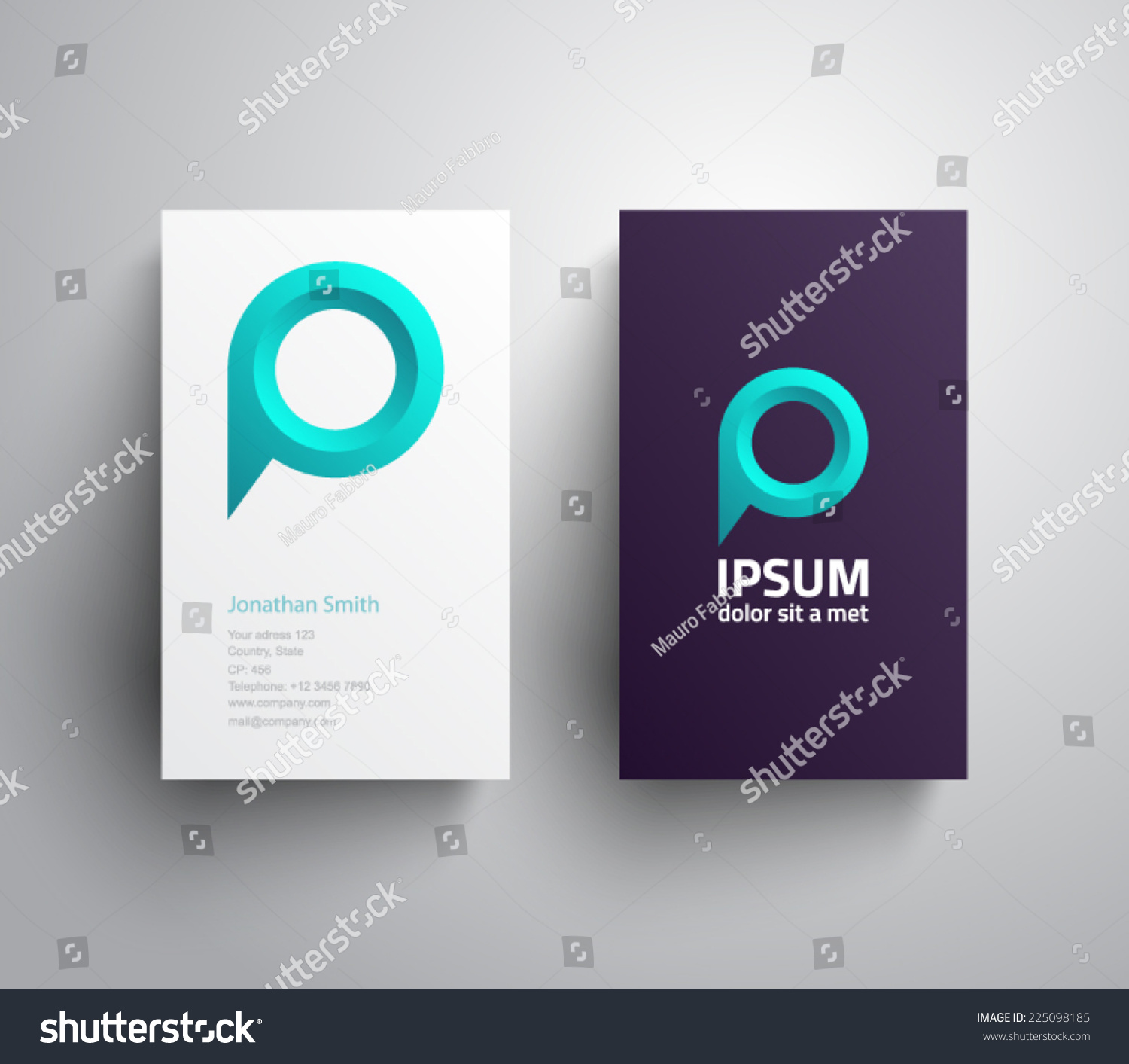 business card logo speech bubble map stock vector 225098185 business card logo speech bubble map point chat social network ubication
