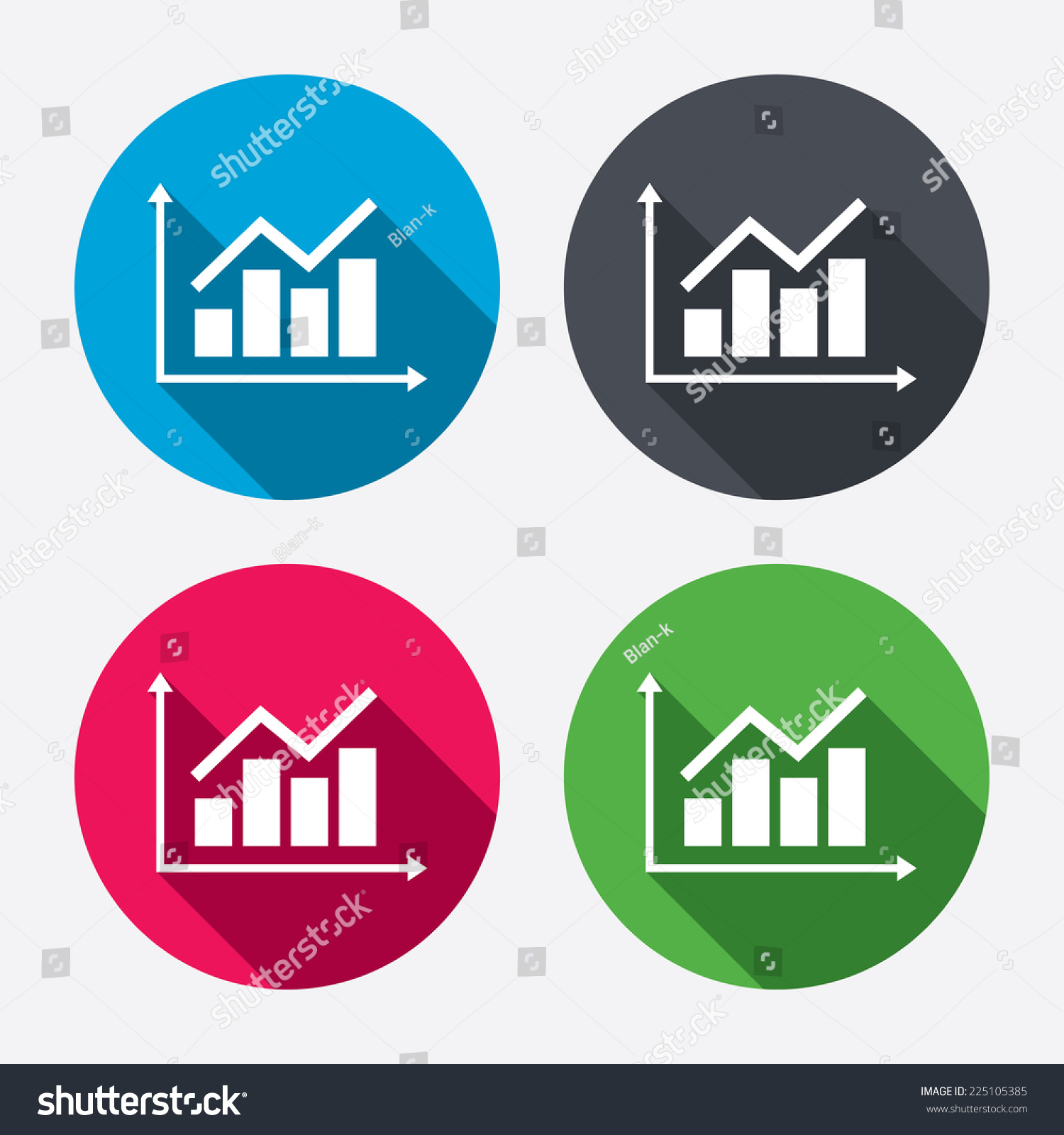 Graph Chart Sign Icon Diagram Symbol Stock Vector
