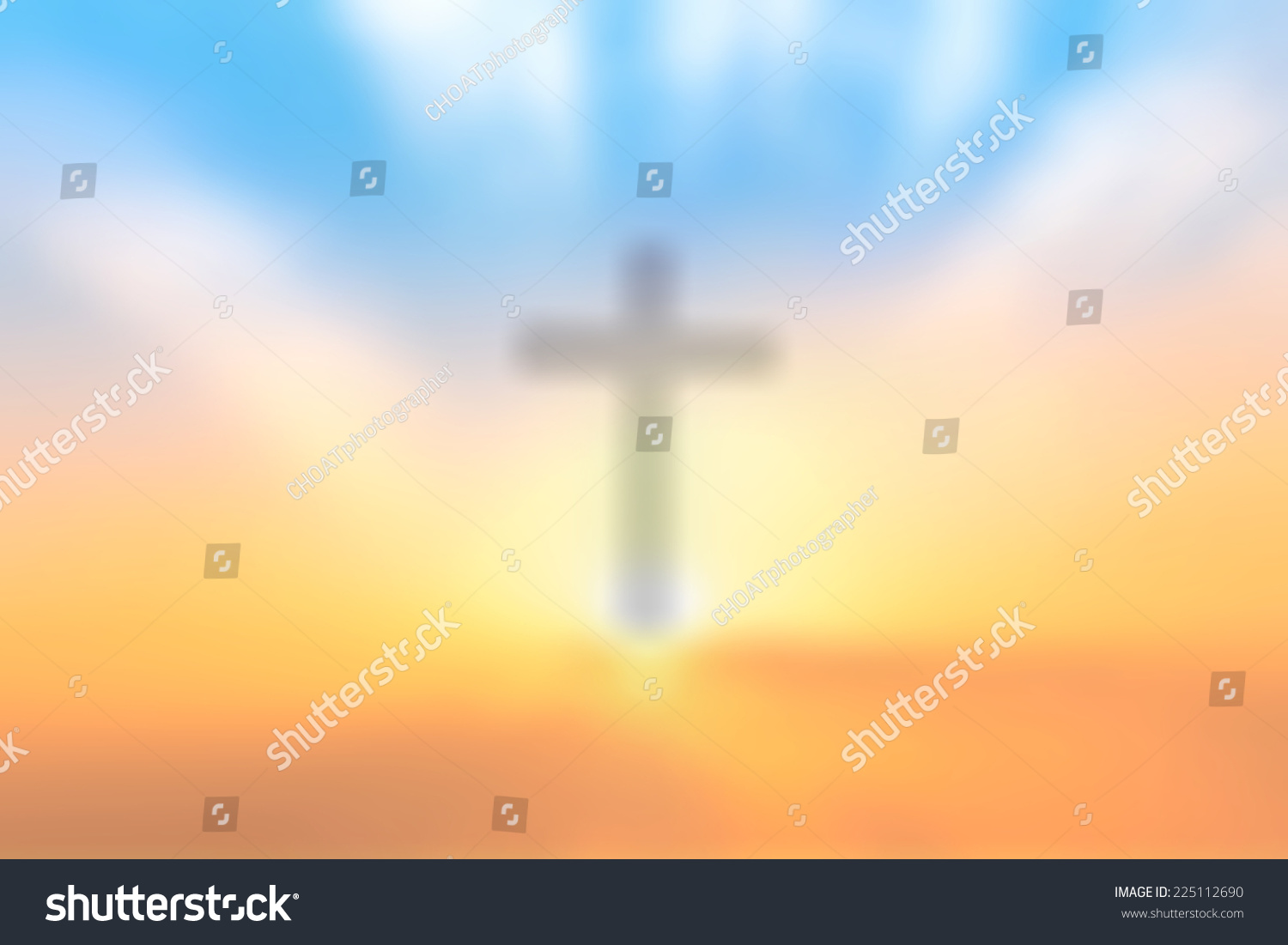 christian catholic background concept blur cross stock