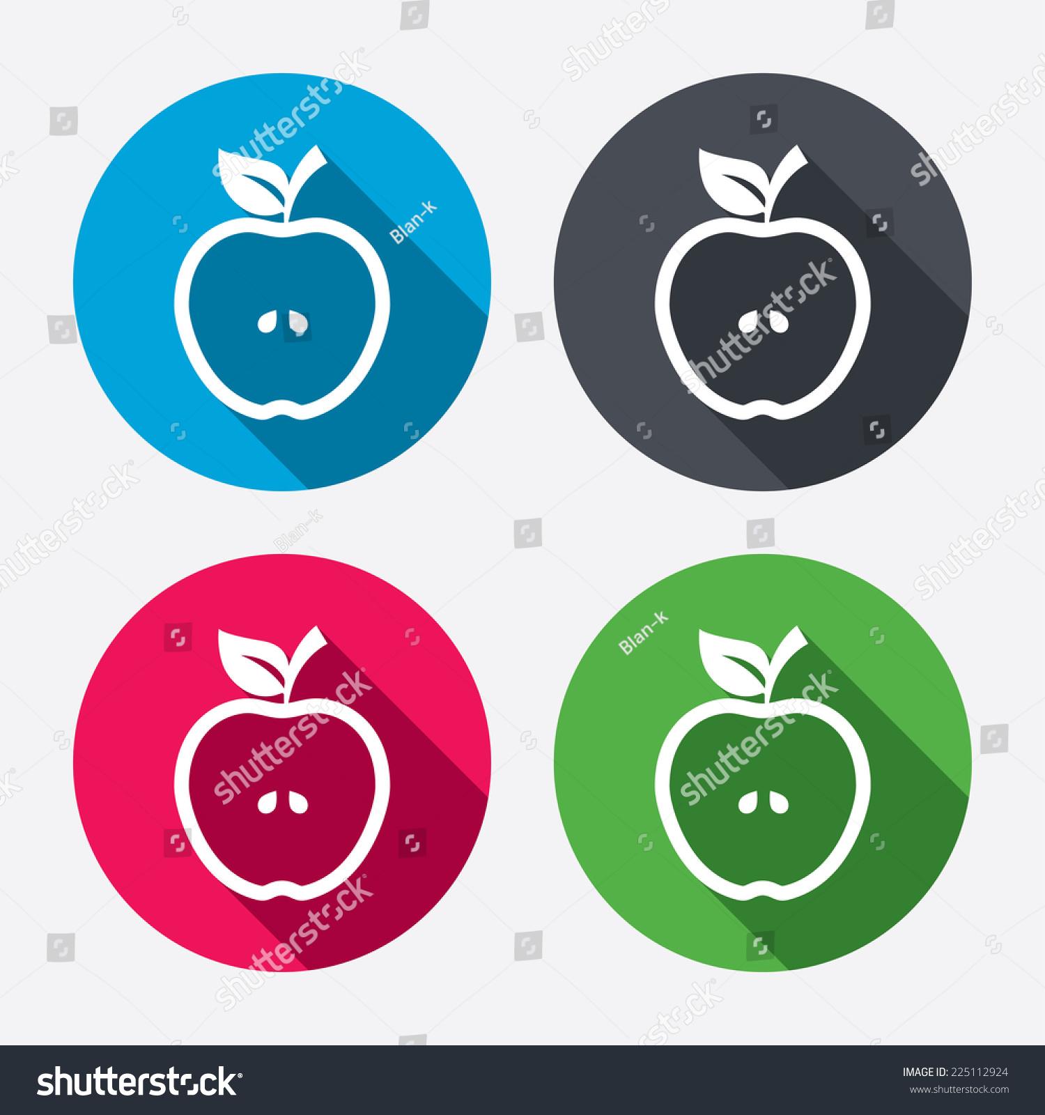 apple sign icon fruit leaf symbol stock vector 225112924 - shutterstock