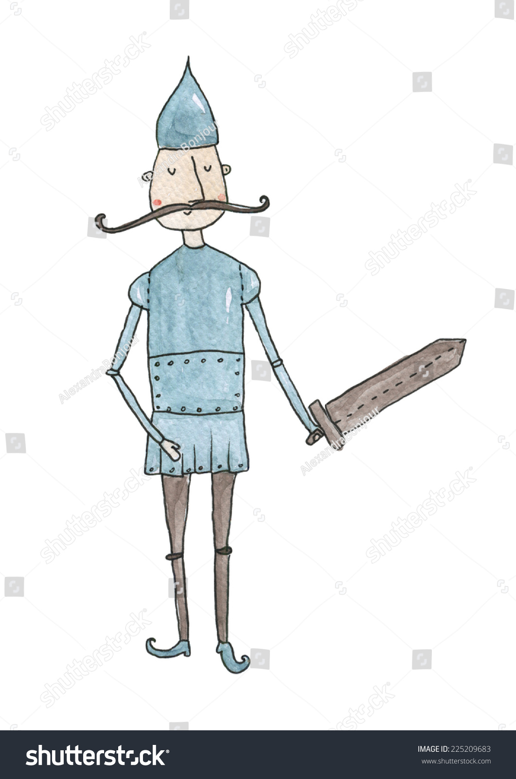 Knight Watercolor Stock Illustration 225209683 - Shutterstock