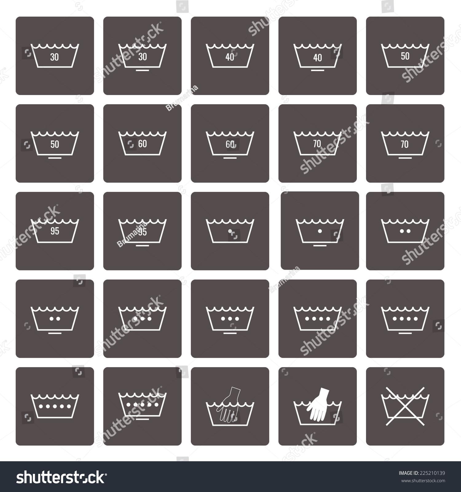 Icon set laundry symbols grey squares stock vector 225210139 icon set laundry symbols grey squares stock vector 225210139 shutterstock biocorpaavc Images