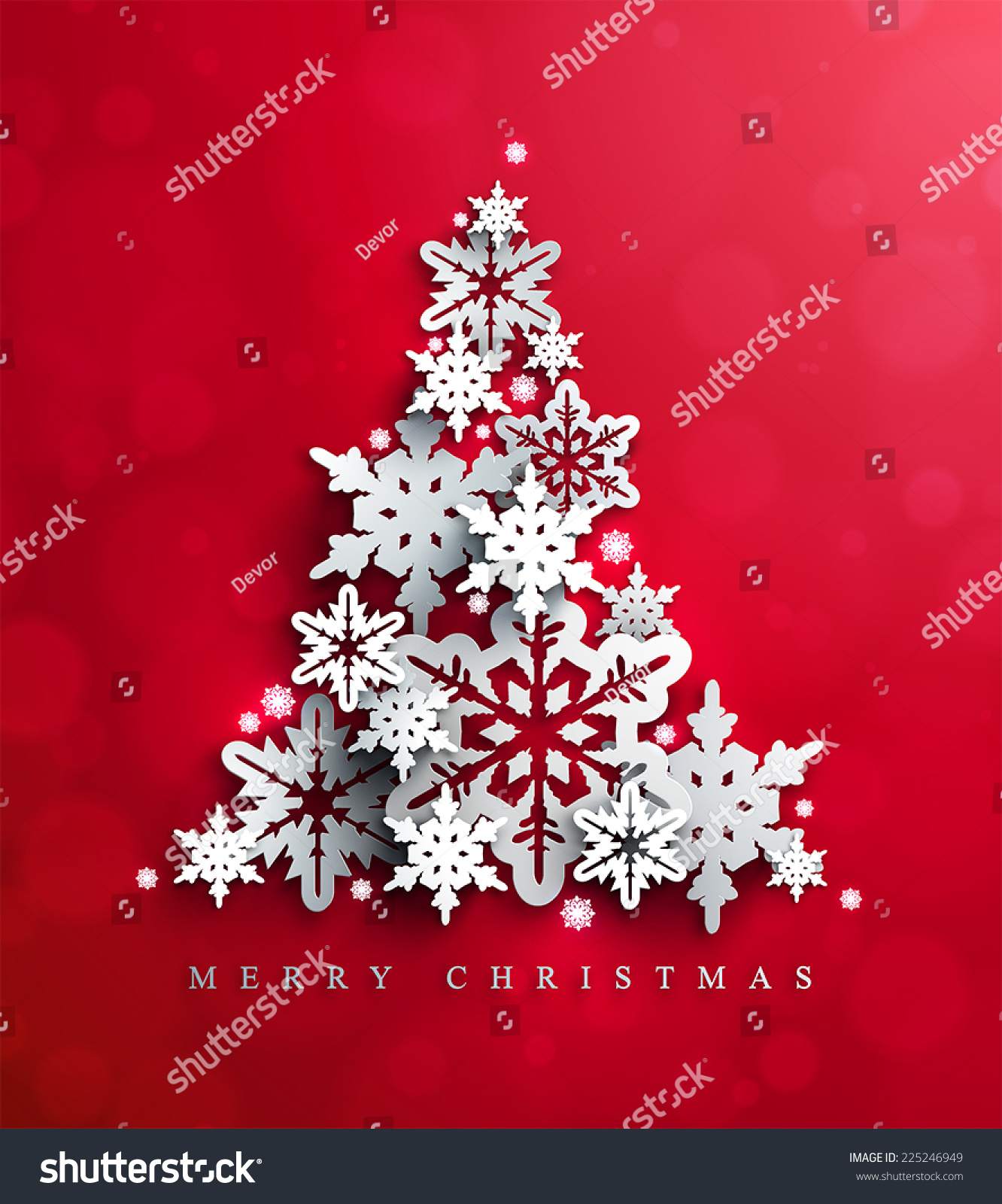 Christmas New Years Red Background Christmas Stock Vector 225246949