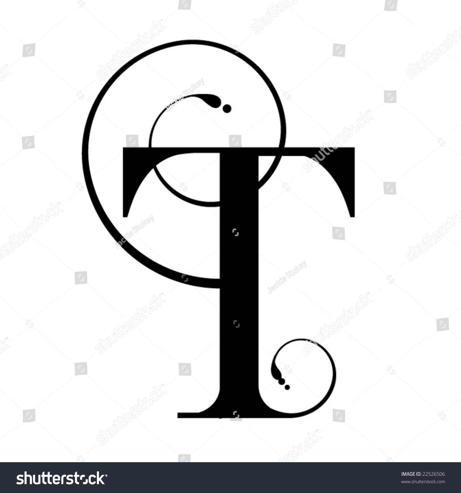 Letter T Stock Vector Illustration 22526506   Shutterstock