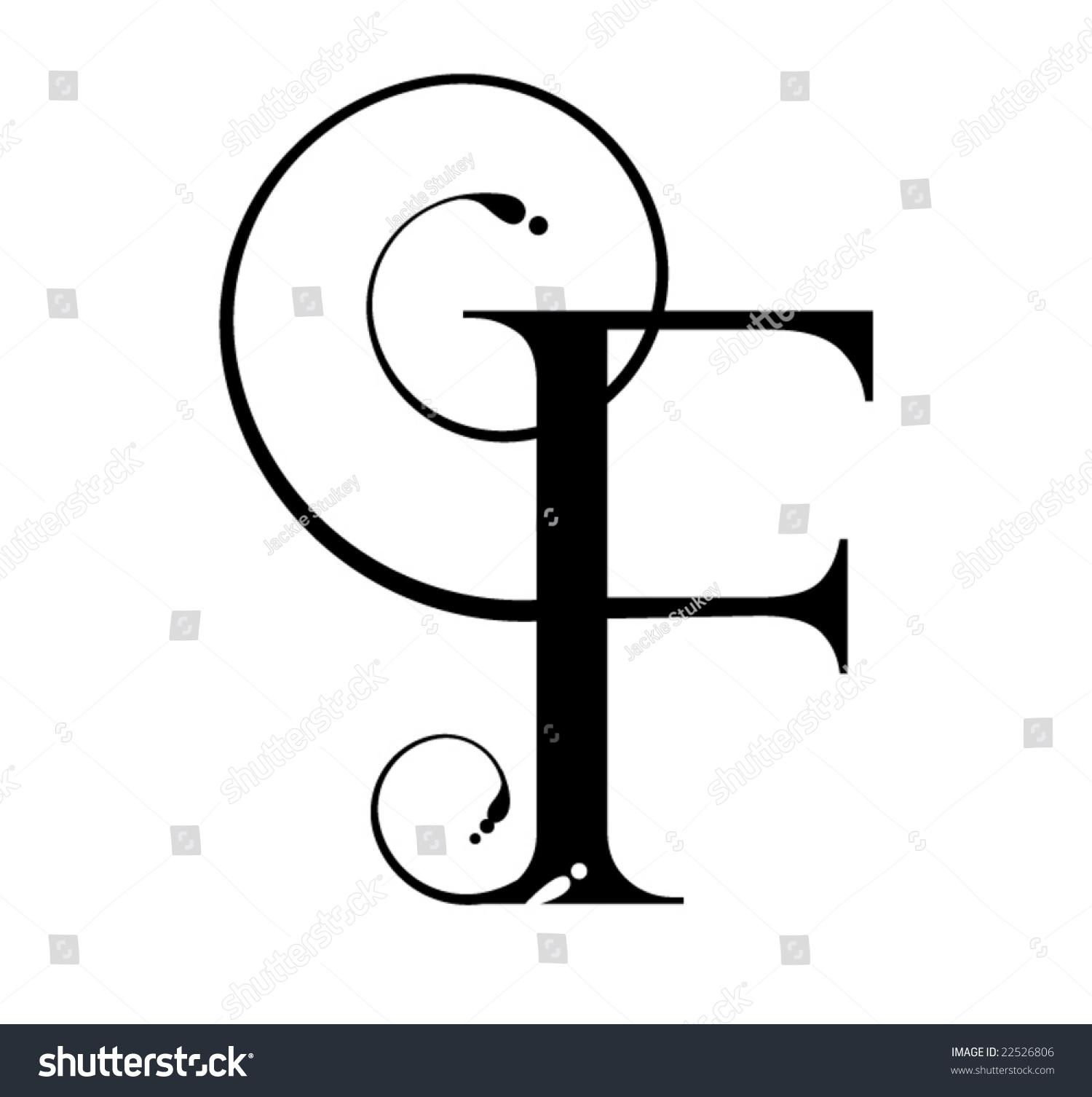 Letter F Stock Vector Illustration 22526806 Shutterstock