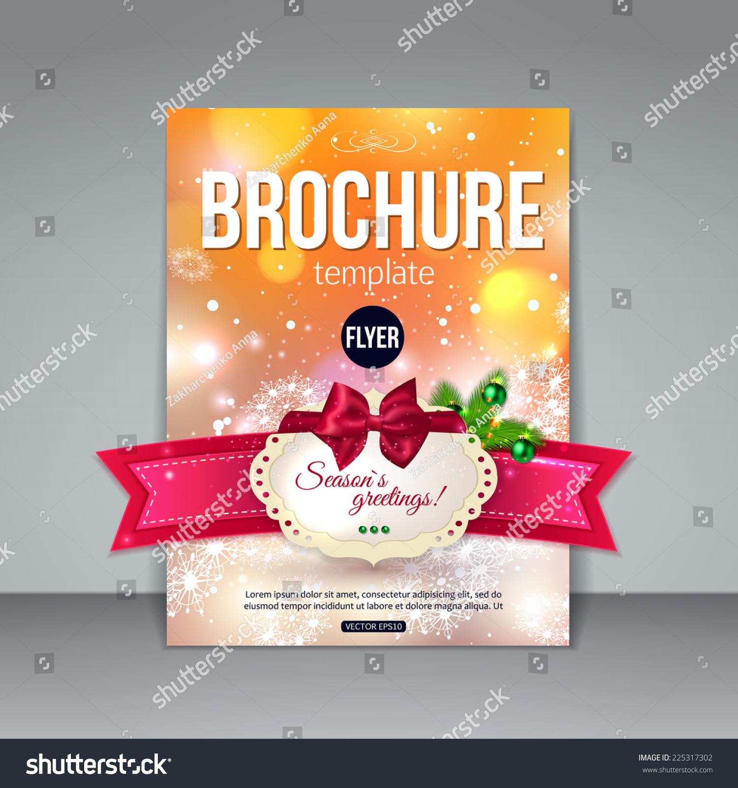 christmas brochure template abstract flyer design xmas fir tree save to a lightbox