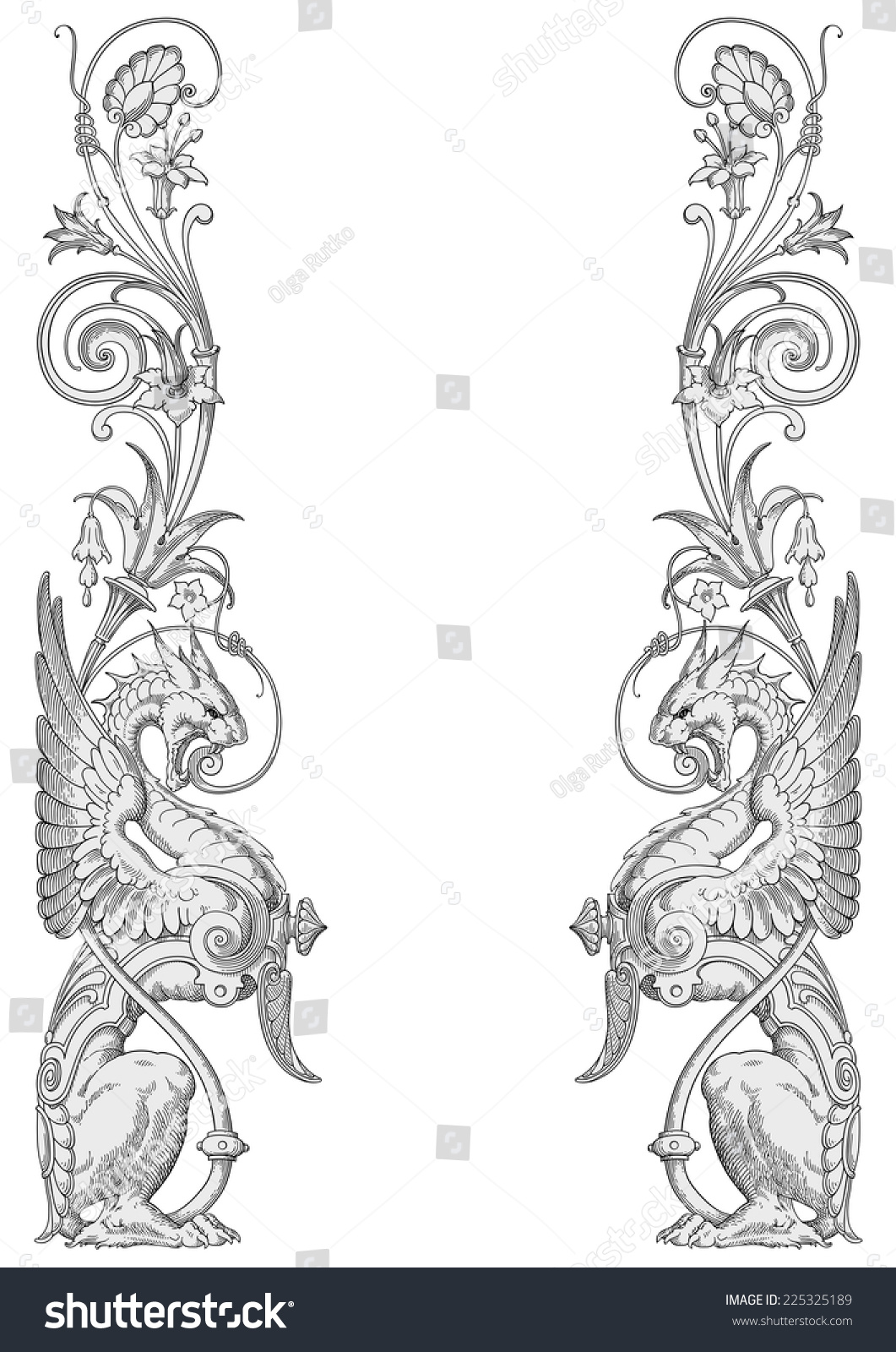 dragons frame vector - Dragon Frame