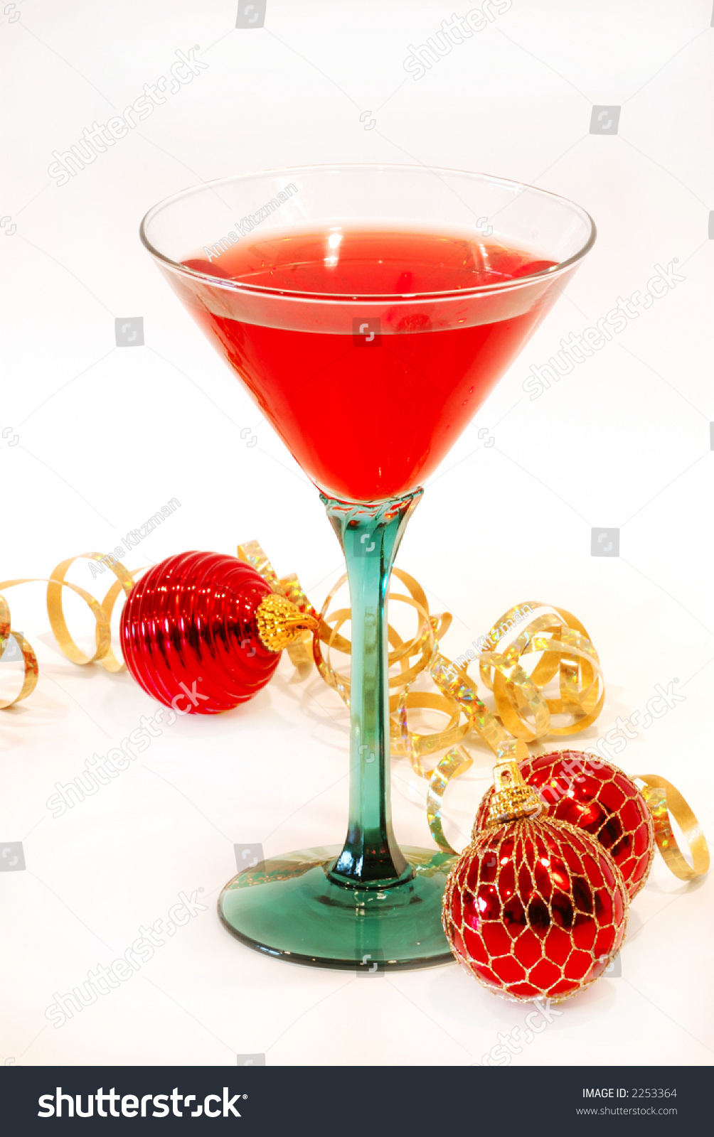 Christmas cheer cocktail pretty glass ready stock photo for Christmas in a glass cocktail