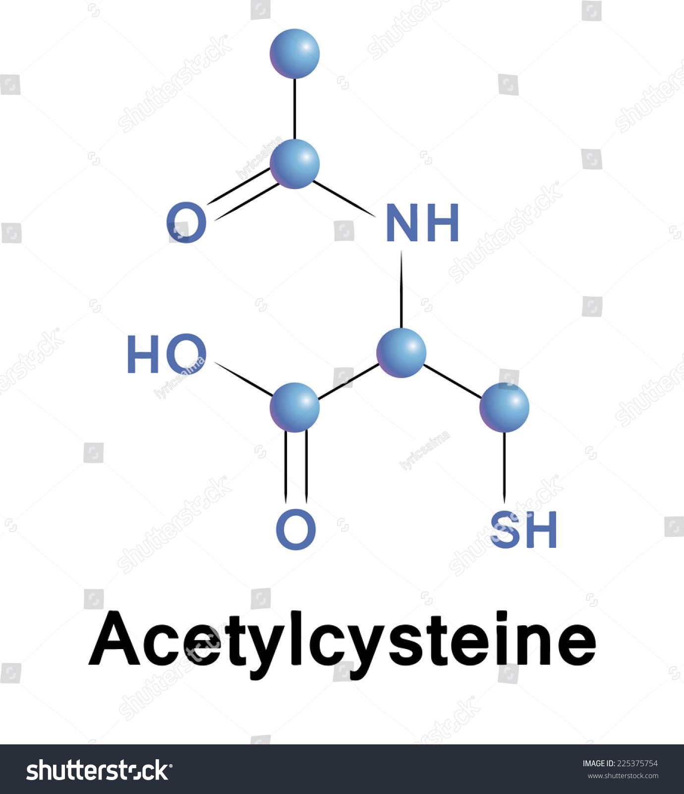 Acetylcysteine chemical formula mucolytic cough cold stock vector acetylcysteine chemical formula of mucolytic for cough and cold vector pooptronica