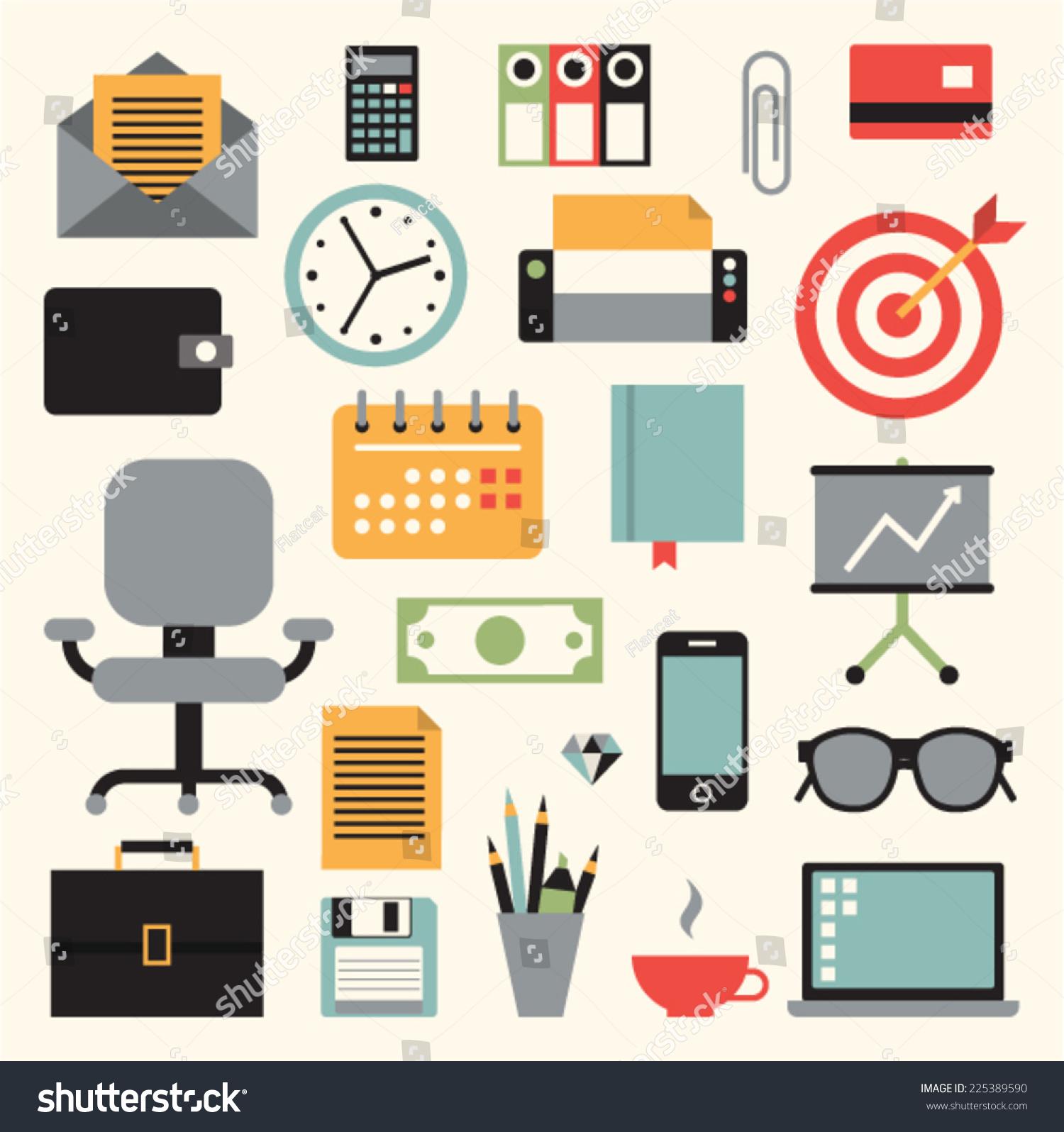 Vector Illustration Icon Set Business Envelope Stock Vector ...